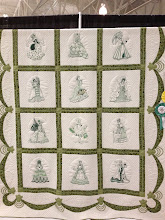 """Photo: 1109 Special Award: Hand Quilting  and Viewer's Choice Winner –  """"Marnelle's Ladies of Yesteryear,"""" quilted by Joni Hoffman, embroidered by Marnelle Sampson, pieced by E. J. Miller"""
