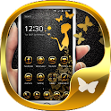 Luxury Gold butterfly Theme icon