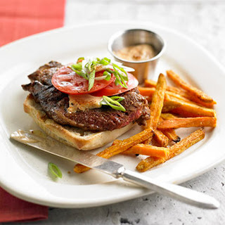 Cajun Steak Sandwich with Sweet Potato Fries