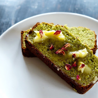 Matcha Morning Bread + Rose Water Ghee.