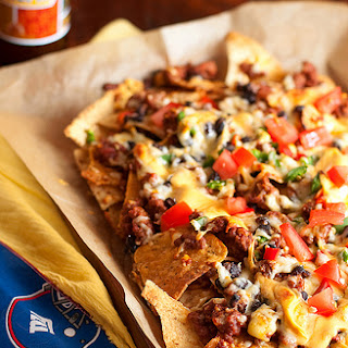Cheesy, Beefy Nachos.
