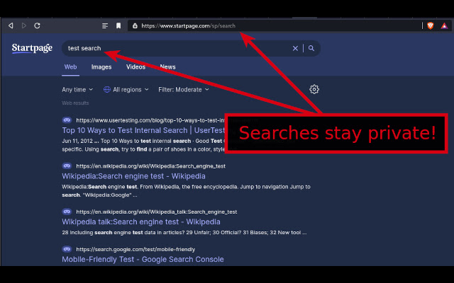 POST Search Privacy