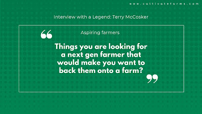 Things you are looking for a next gen farmer that would make you want to back them onto a farm