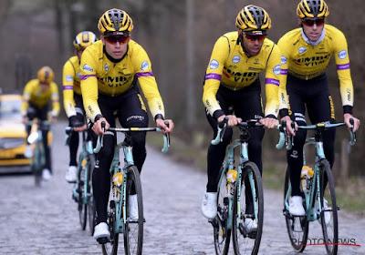 ? IN BEELD: Wout Van Aert verkent de Omloop... in het truitje van Jumbo-Visma
