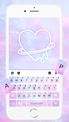 Neon Pastel Heart Keyboard Theme 1.0 screenshots 1