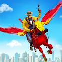 Flying Horse Robot Hero Cowboy Robot Games icon