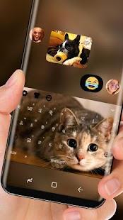Kawaii Kitty Keyboard Cute Cat Face - náhled