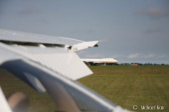 Photo: NRO og en 747.