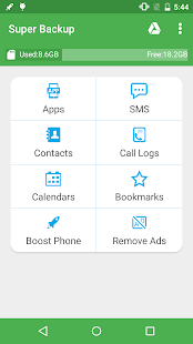 Super Backup : SMS & Contacts Screenshot 1