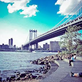 Manhattan Bridge by Cayden J - Buildings & Architecture Bridges & Suspended Structures ( pwcbridges )