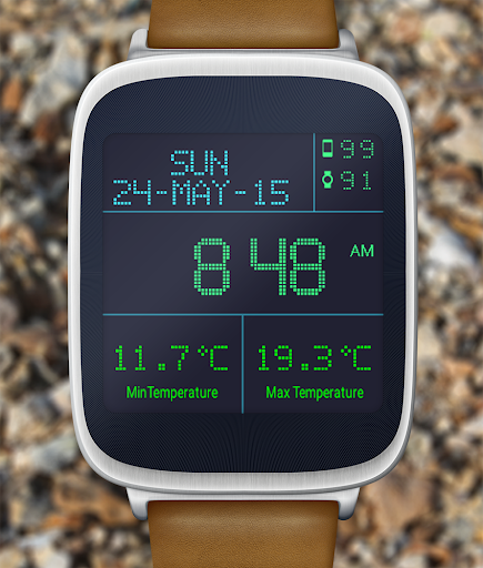 LED Watch face with Weather  screenshots 8