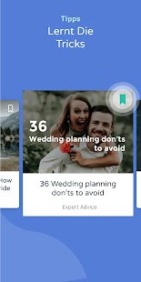Bridebook - Hochzeitsplanungs App Screenshot