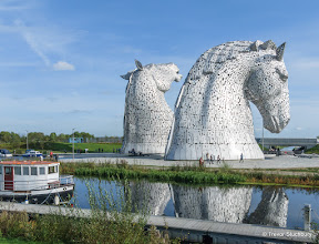 Photo: The Kelpies, Falkirk. Sculpture by Andy Scott