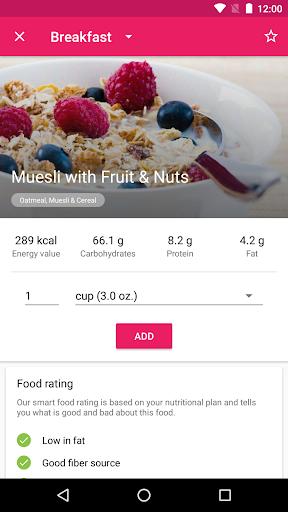 YAZIO Calorie Counter, Nutrition Diary & Diet Plan 4.0.6 screenshots 4
