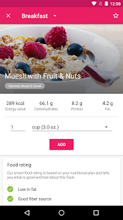 YAZIO Calorie Counter, Nutrition Diary & Diet Plan- screenshot thumbnail