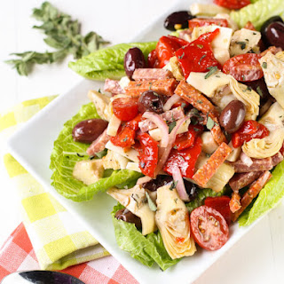 Antipasto Salad with Red Wine Vinaigrette.
