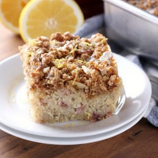 Gluten Free Strawberry Lemon Poppy Seed Coffee Cake Recipe
