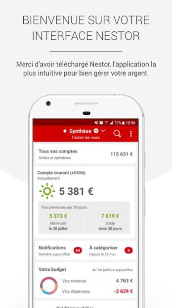NESTOR: Gestion & Suivi budget Android App Screenshot