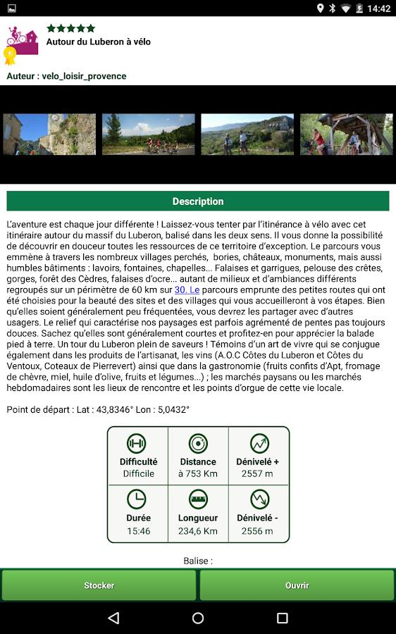 Vélo Loisir Provence– Capture d'écran