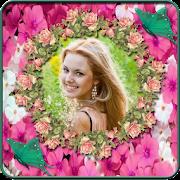 Rose Flower Photo Frame - Flower Photo Editor