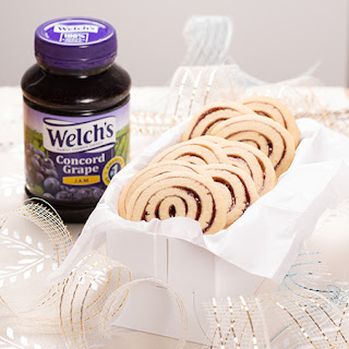 Welch's Grape Jam Pinwheel Cookies.