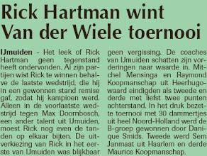 Photo: Rick Hartman wint Van der Wiele toernooi. 17 februari 2011
