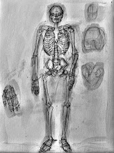 """Photo: As if Death Were a Passion, sketch, Brenda Clews, 2012, 12"""" x 16"""", graphite on triple-primed cotton canvas sheet."""