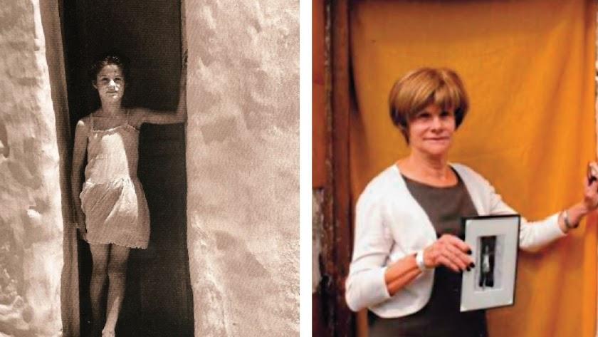 La Niña blanca, de Pérez Siquier y Angeles Hernández, la niña de la foto, en el mismo lugar, medio siglo después.