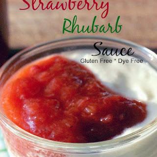 Strawberry Rhubarb Sauce.