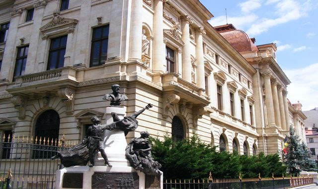statue of Eugeniu Carada, the founder of the National Bank of Romania