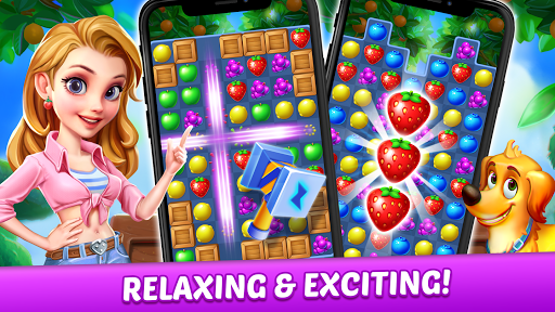 Fruit Genies - Match 3 Puzzle Games Offline apkslow screenshots 6