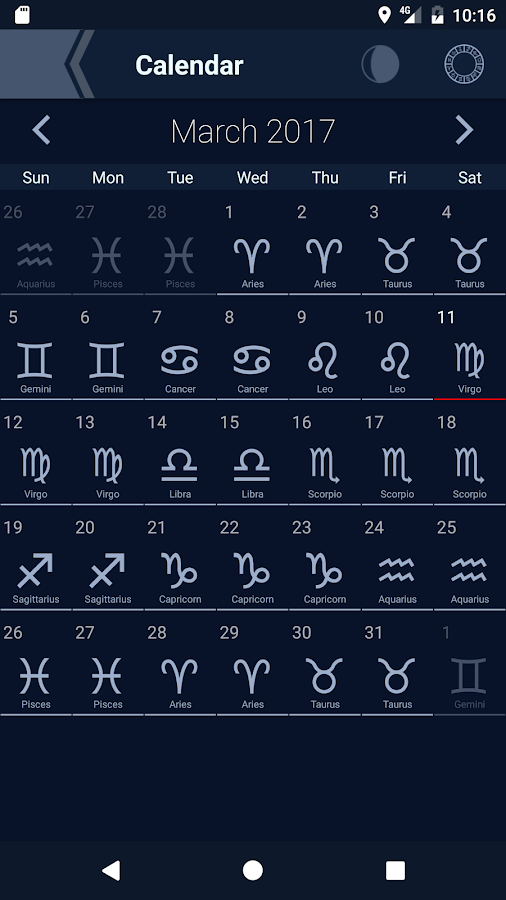 The Moon - Phases Calendar- screenshot