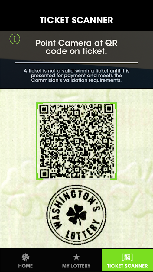 Washington's Lottery- screenshot
