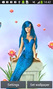 Mermaid živé tapety - náhled