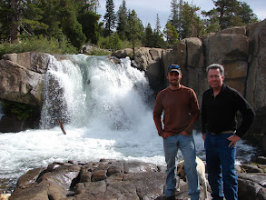 Photo: My son Jason and myself near his home in Kirkwood California.