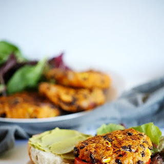 Healthy Black Bean Sweet Potato Burgers