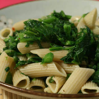 Pasta with Broccoli Rabe, Garlic, Black Pepper and Olive Oil.