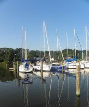 Photo: Pretty water reflection at Fairview Marina