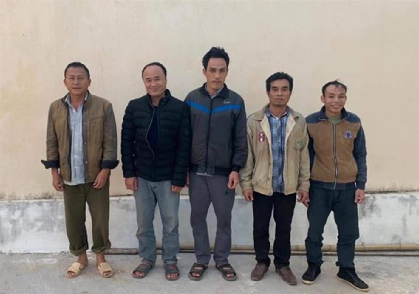 Nhóm đối tượng đánh bạc tại bản Tạt Thoong bị bắt giữ