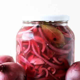 Pickled Red Onions.