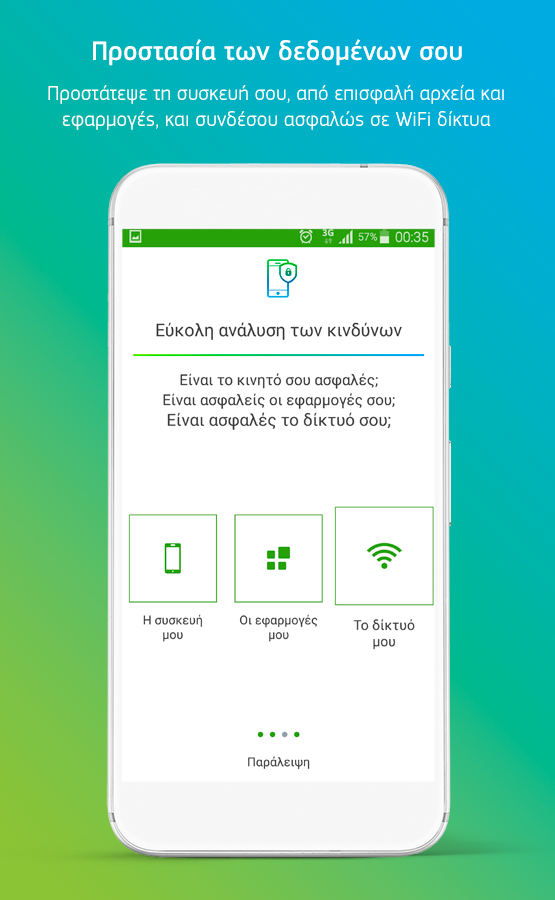 COSMOTE Mobile Security - στιγμιότυπο οθόνης
