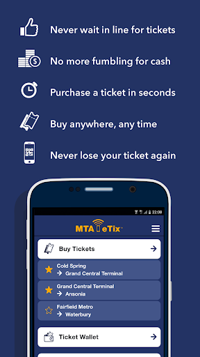 MTA eTix Screenshot