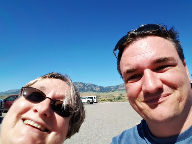 John and his mom in Idaho as they were driving his van and U-haul cross country.