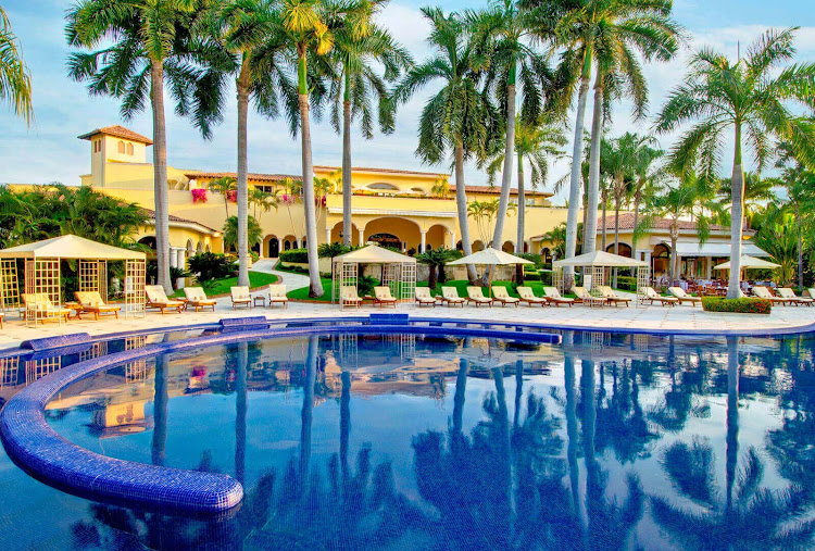 The pool area at the adults-only Casa Velas in Puerto Vallarta (click to enlarge).