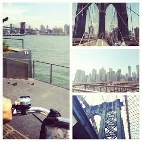 Biking through the Brooklyn and Manhattan Bridges. #nyc #bike #biking #bridge #architecture #picoftheday #stadium #igdaily by Alex Santos - Instagram & Mobile Instagram