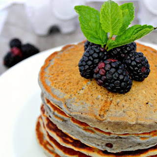 Blackberry Sour Cream Pancakes.