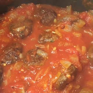 Meatball Sauce.