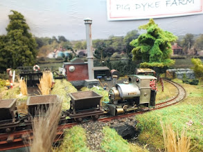 Photo: 020 Another shot of the Rod Allcock's Margaret class Bagnall with the Roco/Dundas converted skip wagons .