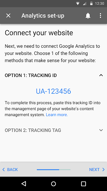 View tracking ID in AdWords Express