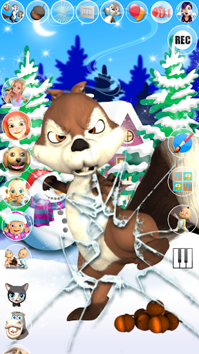 Talking Squirrel Frozen Forest apkmind screenshots 4